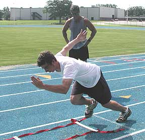 Speed training for track athletes